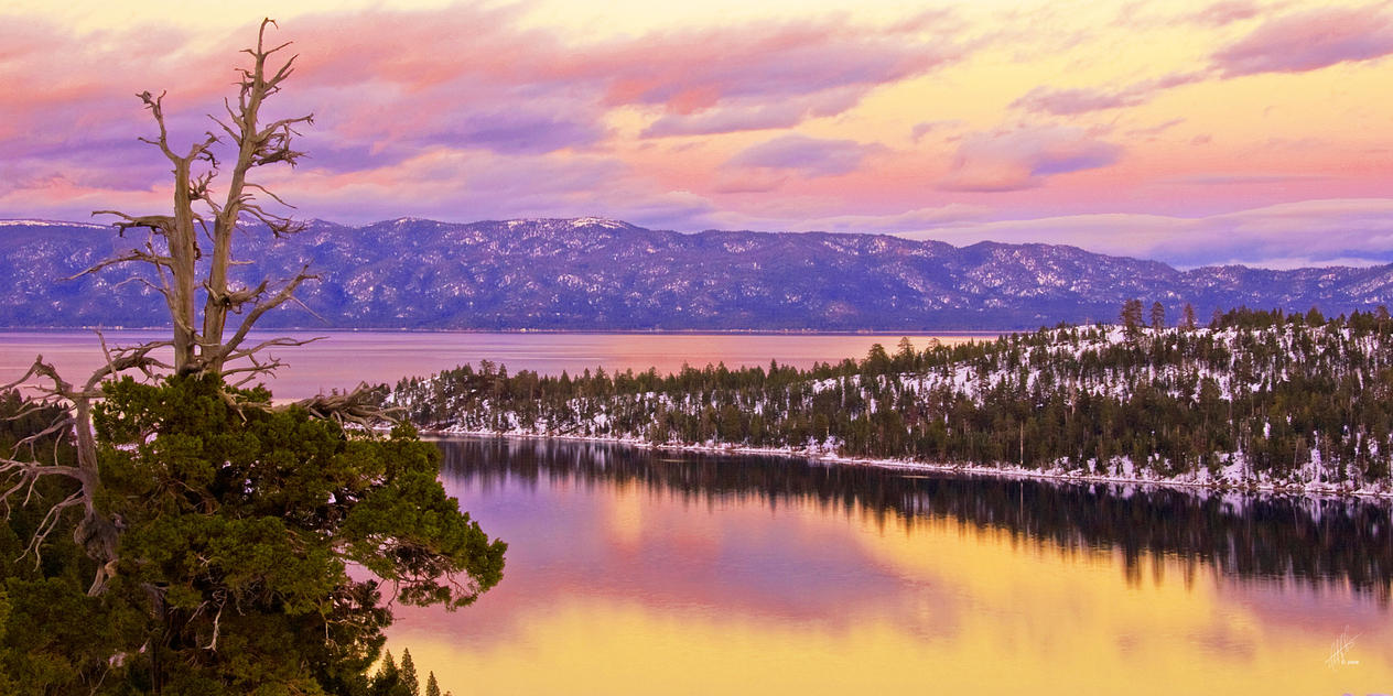 Emerald Bay Sunset by Daveinwilton