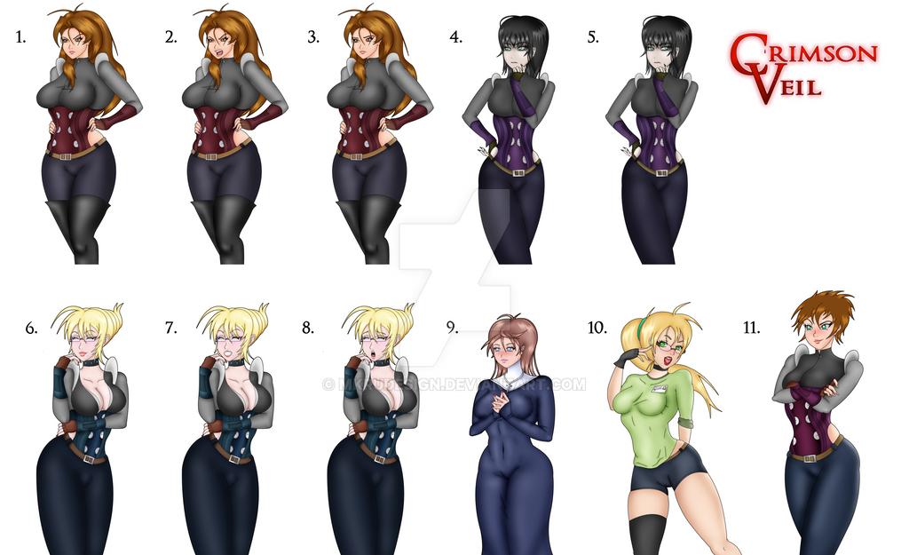 Noctorna NPCs Character Portrait by MKRUdesign