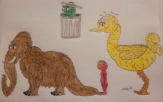 Sesame Street Cast Redrawn