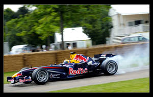 Red Bull F1 Car - Tire smoking by TVRfan
