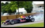 Red Bull F1 Car - Tire smoking
