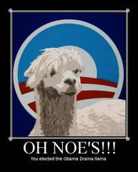 Obama Drama Llama by TheLazyFox