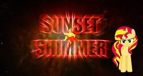 MLP Sunset Shimmer Space Wallpaper by DaChosta