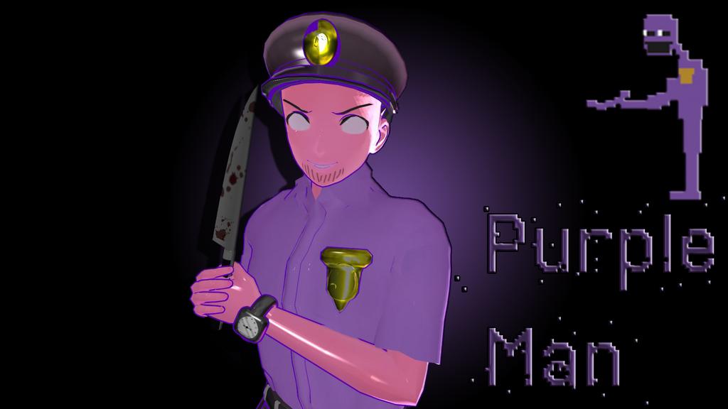 [MMD FNAF] Purple man Poster by smilecat98