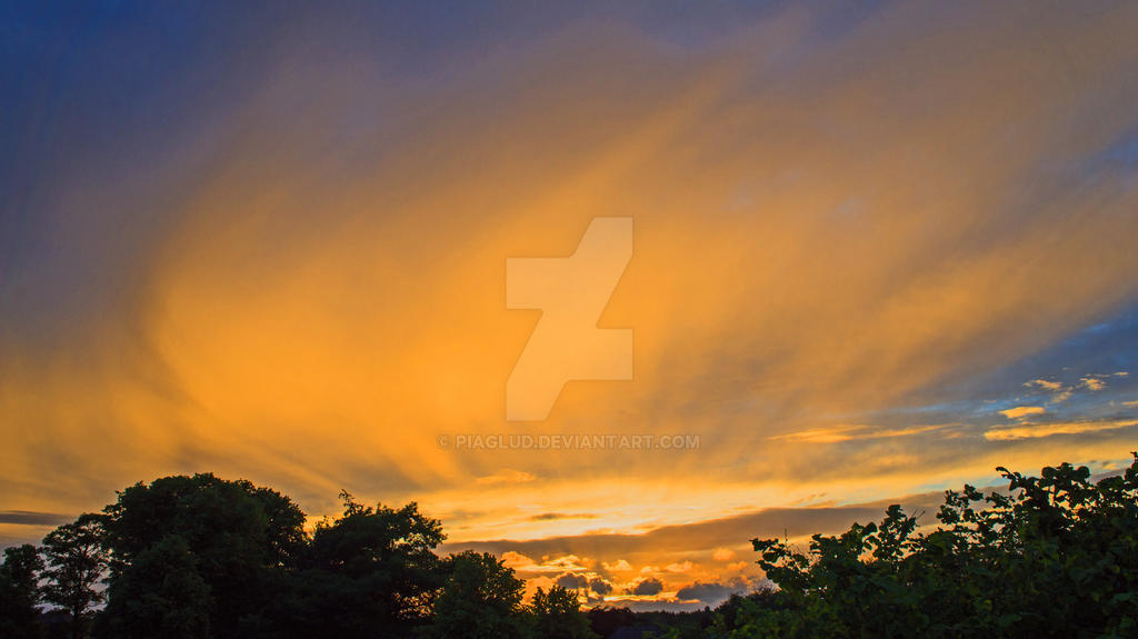 sunset in Hammel Denmark by piaglud