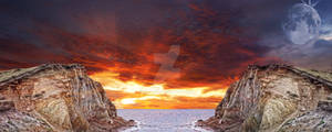 Premade Background Sunset