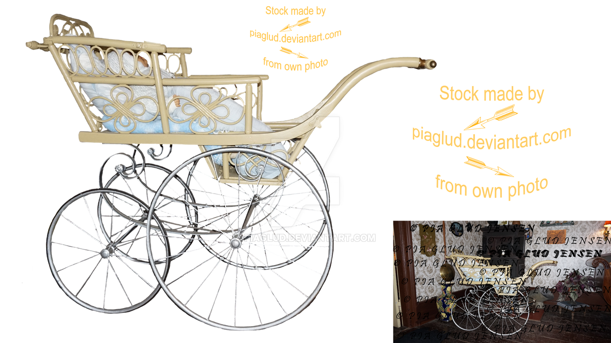 old-fashioned stroller by piaglud