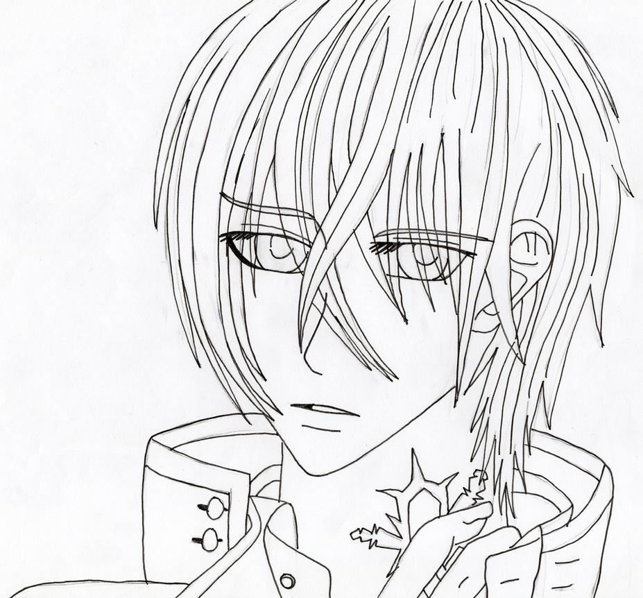 Line Art Zero : Vampire knight zero line art by xxcrystalwolfx