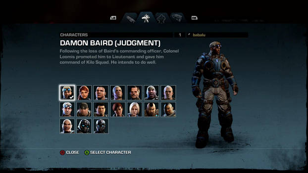Gow: Judgment - Characters