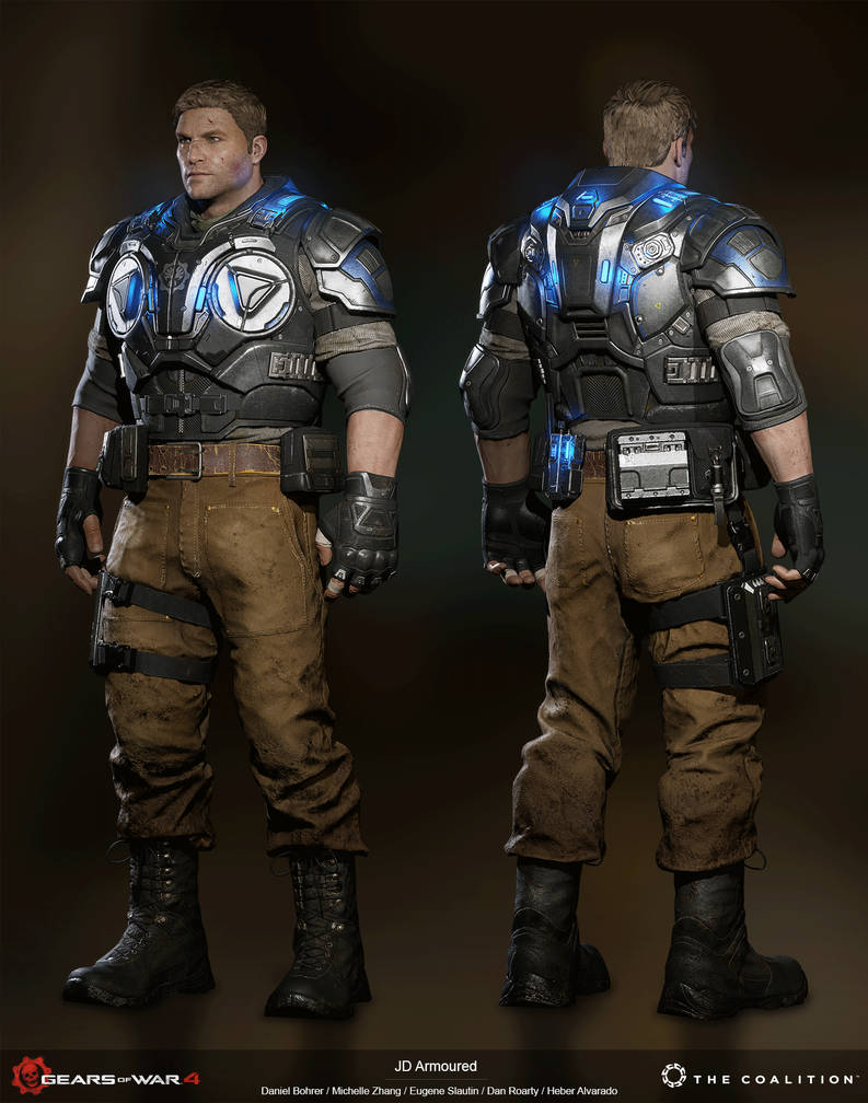 Gears of War 4: JD Fenix Armoured / 3D Model