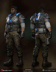 Gears of War 4: Del Armoured / 3D Model