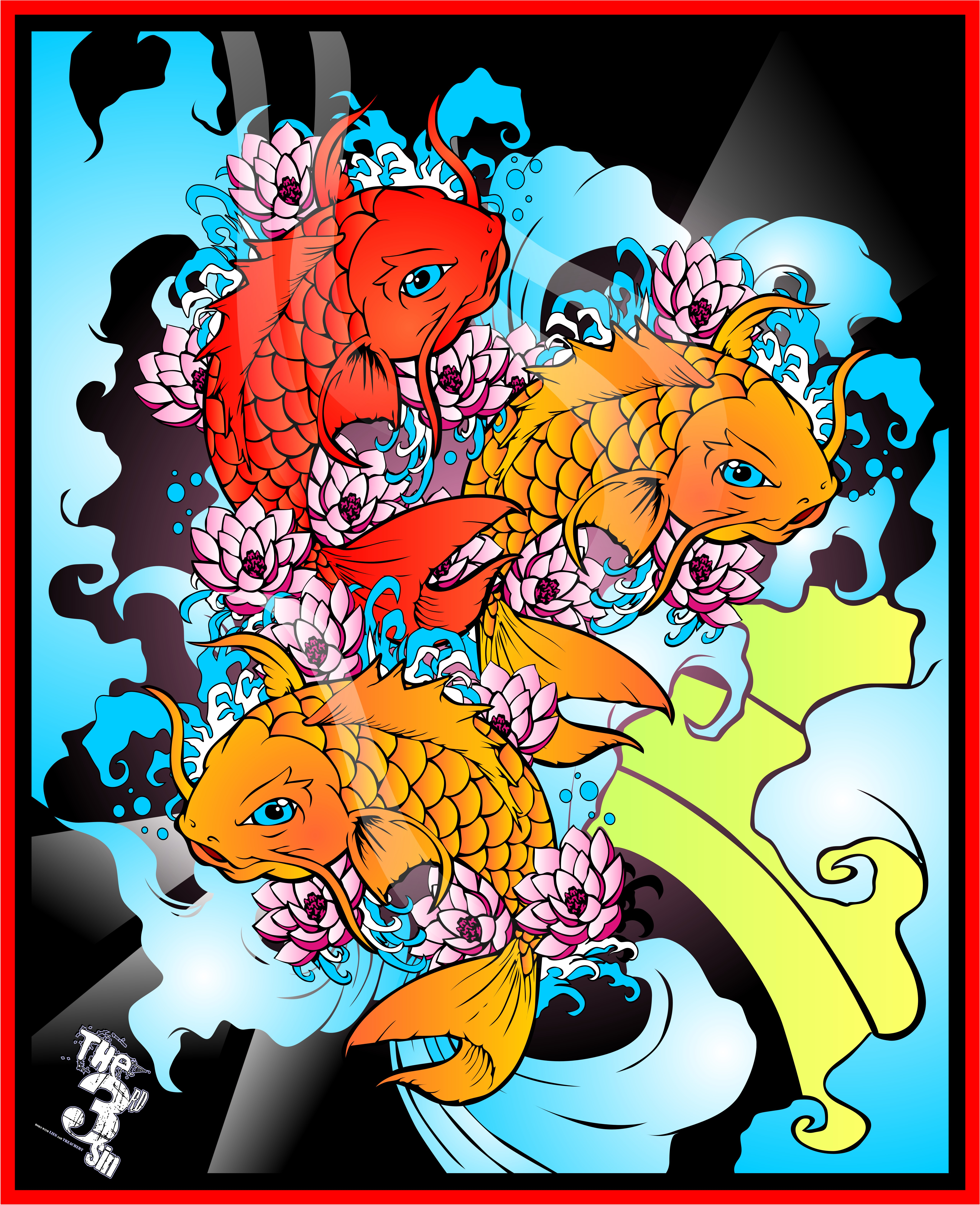 Japanese koi fish part ii by bytha on deviantart for Koi fish japanese art