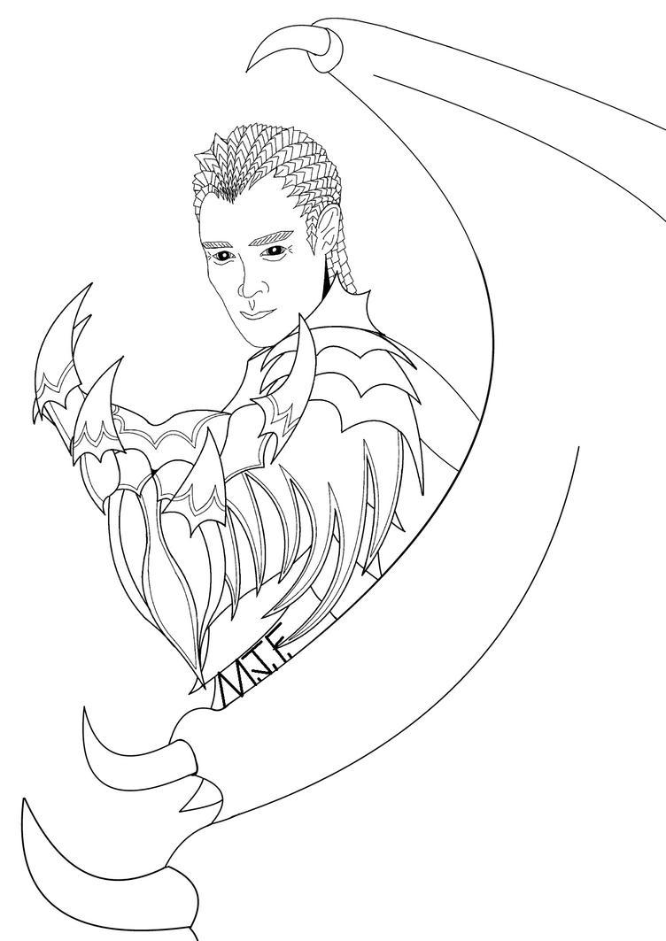 Line Art Joy : Raven line drawing by mjoygoddess on deviantart