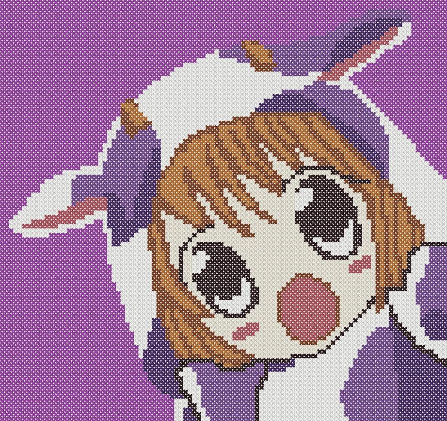 Surprised Cow Cross Stitch by mjoygoddess