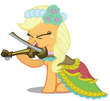 Applejack the Fiddler by birthofthepheonix