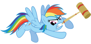 Don't Mess with Rainbow Dash by birthofthepheonix