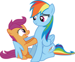 Scootaloo and Rainbow