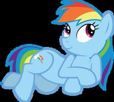 Lounging Rainbow by birthofthepheonix