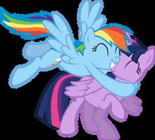 Rainbow Likes Alicorn Twilight by birthofthepheonix