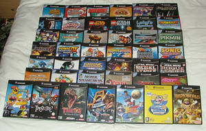 My Gamecube games by EUAN-THE-ECHIDHOG