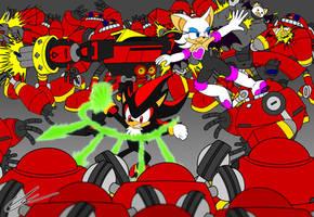 Team Dark vs Egg Pawns by EUAN-THE-ECHIDHOG