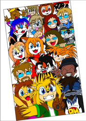 Group pic coloured by EUAN-THE-ECHIDHOG