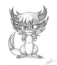 April the Dragon plotting
