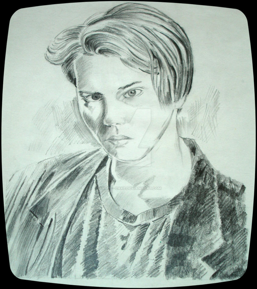 Pencil sketch river phoenix by fruit cake