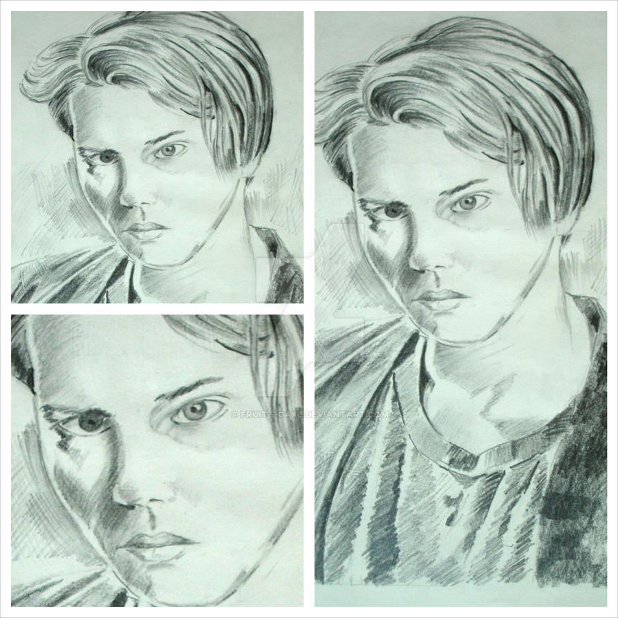 Pencil sketch river phoenix collage by fruit cake