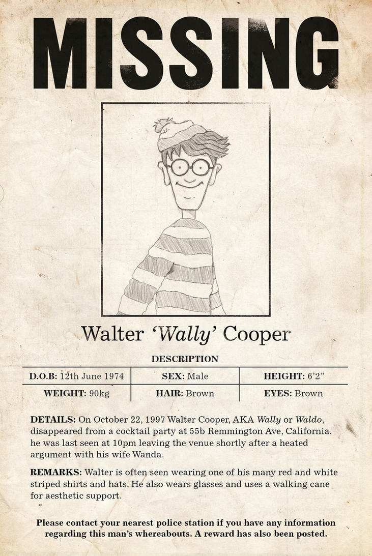 Waldo Missing by francepantsdance