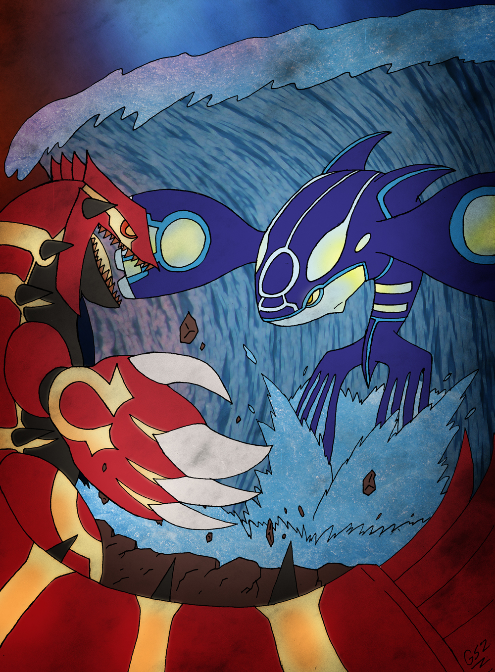 Kyogre By GSlayer2004 Primal Groudon Vs