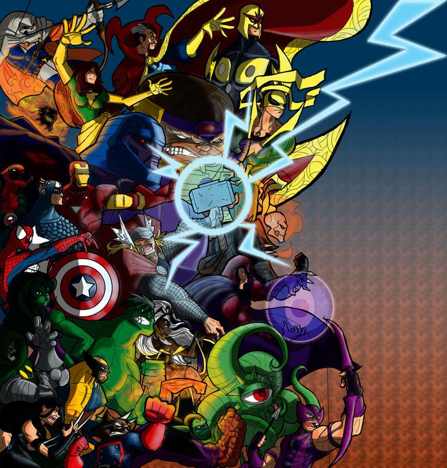 Ultimate Marvel vs. Capcom 3: Marvel side by Franckjp on ...   874 x 914 jpeg 301kB