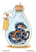 Bottled: Blue Thornwyrm by emmalazauski