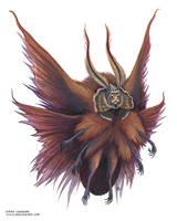 Moth Fae with a Hood by emmalazauski