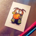 ACEO Harvest Owl