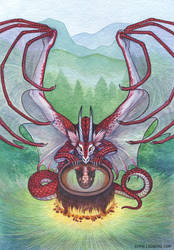 Dragon With the Chocolate by emmalazauski