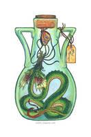 Bottled: Frilled Thornwyrm by emmalazauski