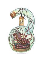 Bottled: Whisker Shrimp by emmalazauski
