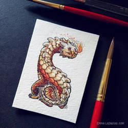 Smaugust: Fiery Solar Drake-Hound by emmalazauski