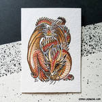 ACEO: Amber Wyrm
