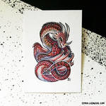 ACEO: Red Wyrm
