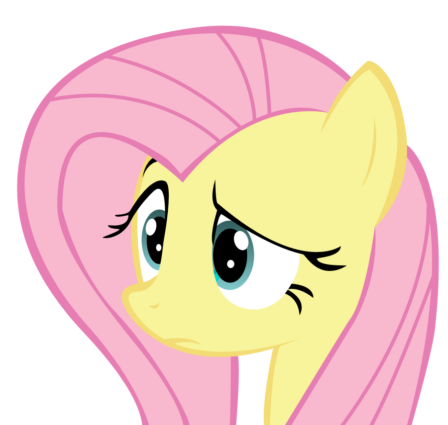 Fluttershy - HUH face ...