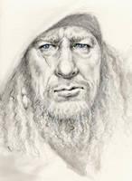 Captain 'blue eyes' Barbossa by kinkykrueger