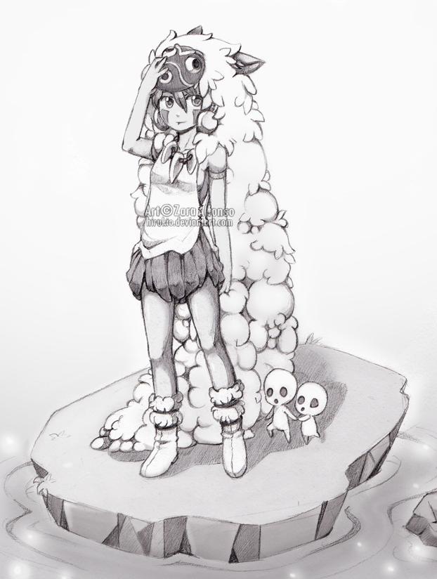 Princess Mononoke by Hirukio