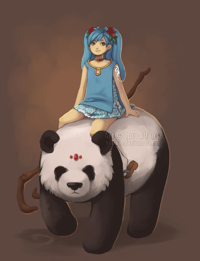 C: Panda Rider by ZaraAlfonso