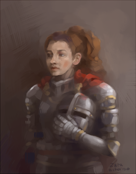 Portrait of a Knight by ZaraAlfonso