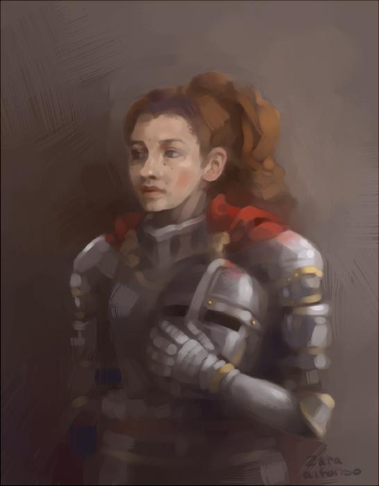 Portrait of a Knight by ZaraAlfonso