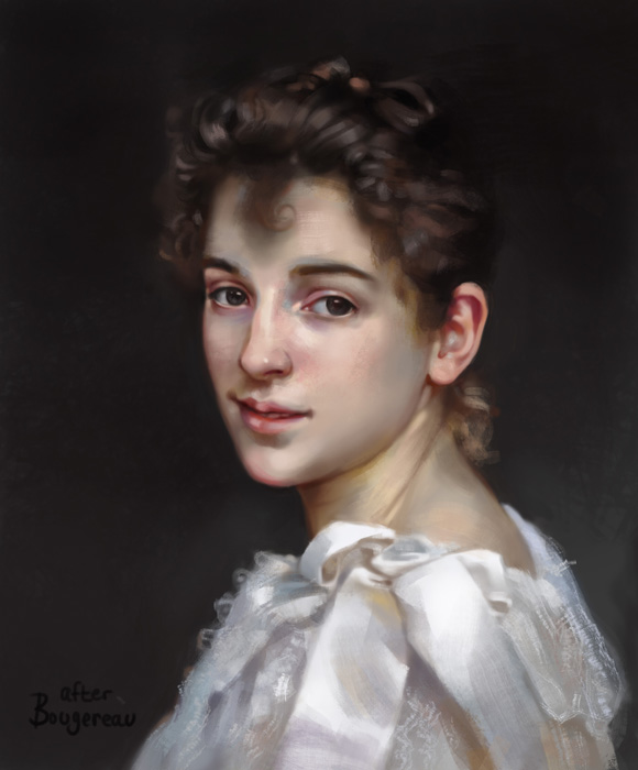 Gabrielle Cot - Bougereau Study by Hirukio