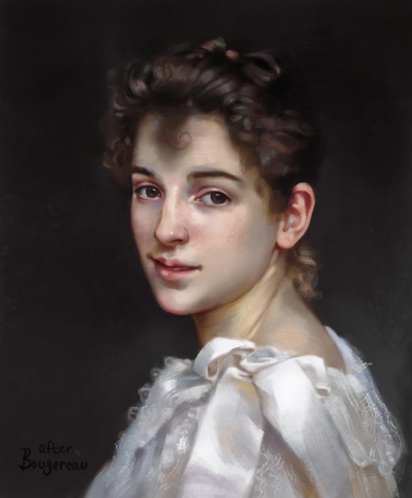 Gabrielle Cot - Bouguereau Study by ZaraAlfonso