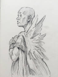 Angel Wings Sketch by ZaraAlfonso